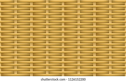 Seamless brown weave rattan pattern, vector art