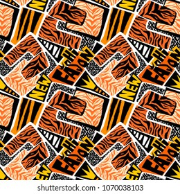 Seamless brushpen textile doodle pattern grunge texture.Trendy modern ink artistic design with authentic,unique scrapes, watercolor blotted background for a logo, cards, invitations, posters, banners.