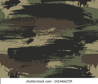 Seamless brusstroke vector repeat pattern