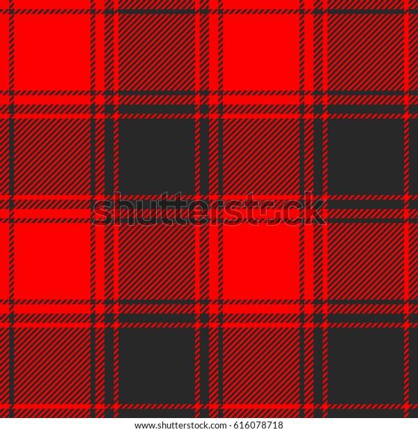 Seamless Buffalo Plaid Pattern Checkered Fabric Stock Vector
