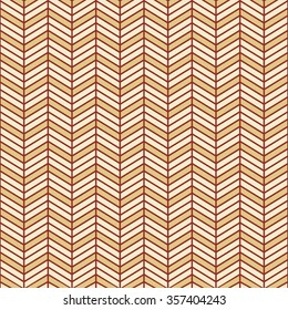 Seamless burgundy red and beige interchanging chevrons pattern vector
