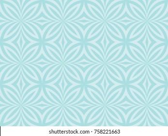 Seamless butterfly pattern vector. Abstract design blue on light blue background