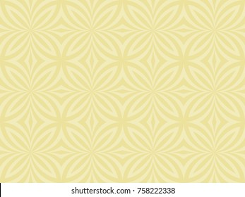 Seamless butterfly pattern vector. Abstract design light yellow on cream background