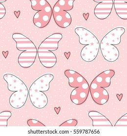seamless butterfly pattern vector illustration