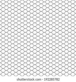 Seamless Cage. Grill. Mesh. Octagon Background. Vector