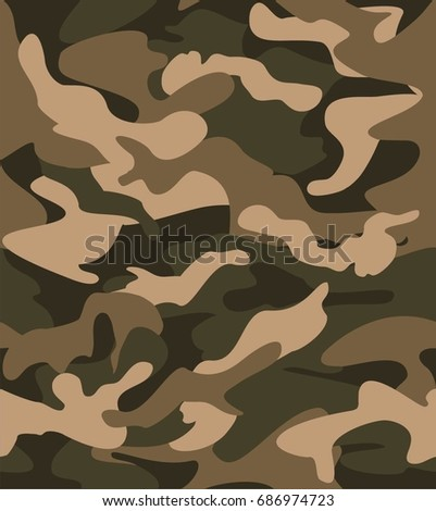Seamless Camo Pattern Army Clothing Apparels Stock Vector Royalty Extraordinary Army Pattern