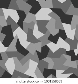 Seamless camouflage geometric texture. Abstract modern vector militagy background.