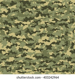 Seamless camouflage military cloth of infantry. Abstract background. Vector illustration.