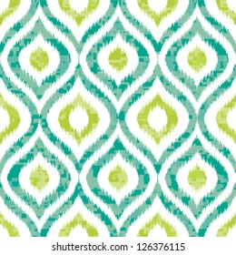 Seamless Camouflage Ogee in Ikat Weave Background Pattern