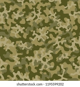Seamless camouflage pattern. Abstract exotic floral military background. Camouflage seamless pattern for army, navy, hunting, fashion cloth textile. Color modern soldier . Vector facric texture.