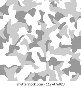 Seamless camouflage pattern. Abstract modern military camo texture background. Vector illustration.