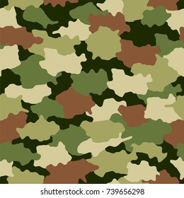 Seamless camouflage pattern background.