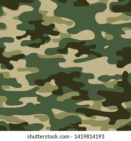 Seamless camouflage pattern classic green.Military,hunting.Print on fabric on paper.Vector