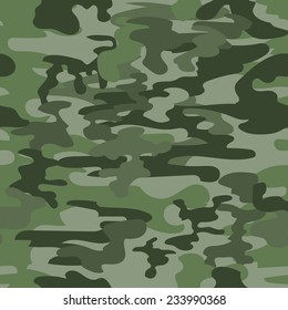 Seamless camouflage pattern in green