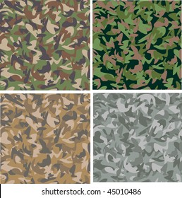 Seamless camouflage patterns