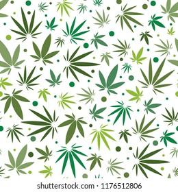 Seamless Cannabis Leaf Pattern