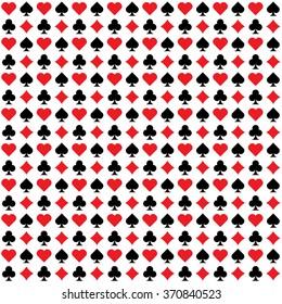 seamless card set pattern, vector illustration
