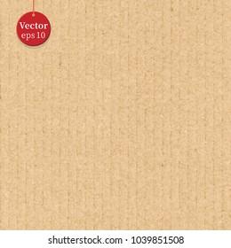Seamless cardboard background texture. Vector