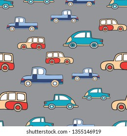 Seamless Cars pattern repeating tiles backdrop background