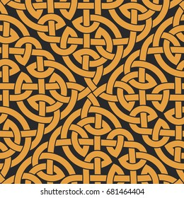 Seamless Celtic knot infinity pattern. Vector illustration
