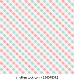 Seamless checkered pattern, coral and turquoise. Can be used for wallpaper, pattern fills, web page background, surface textures
