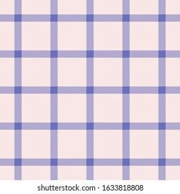 Seamless checkered windowpane fabric pattern