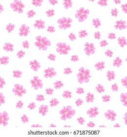 Seamless cherry blossom or sakura floral pattern