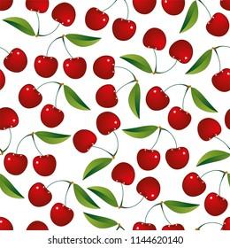 Seamless cherry pattern