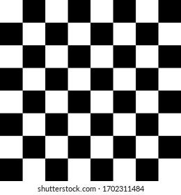 Seamless Chess Pattern in Black and white concept