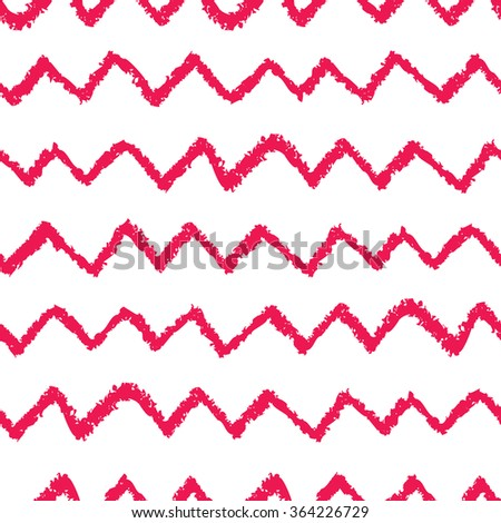 photo regarding Printable Chevron Pattern known as Seamless Chevron Behavior Hand Painted Oil Inventory Vector