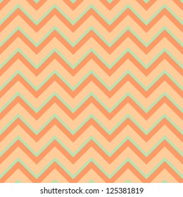 Seamless chevron pattern in retro style, soft colors. Can be used to fabric design, wallpaper, decorative paper, scrapbook albums, web design, etc. Swatches of seamless pattern included in file