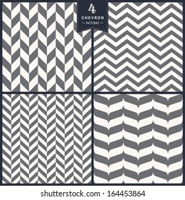 Seamless chevron pattern set
