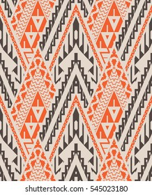 Seamless Chevron Pattern with Triangles. Vector Background for Textile Design. Ethnic  Abstract Texture
