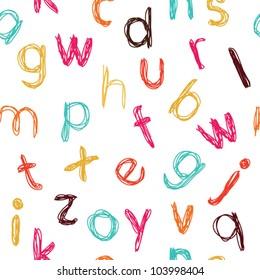 Seamless childish colorful alphabet pattern