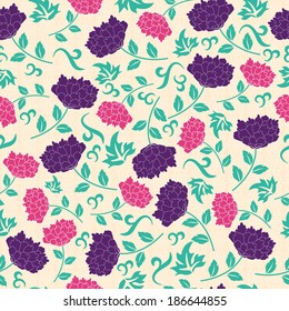 Seamless chinese pattern. Vector background