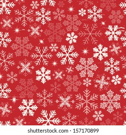 Seamless Christmas Holidays Background/ Illustration of a seamless wallpaper background of white winter snowflakes for christmas and new year's eve holidays