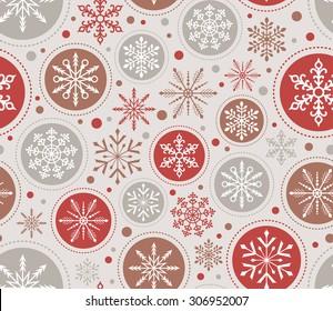 seamless christmas ornament pattern