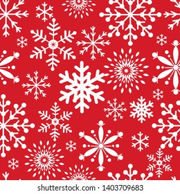 Seamless Christmas pattern with snowflakes,great for wallpaper,Christmas decorative background, vector illustration