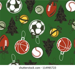 seamless Christmas sport background