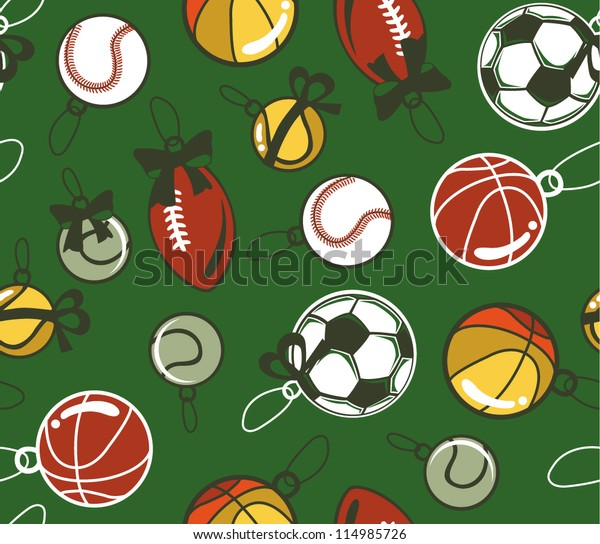 Christmas Sports Background.Seamless Christmas Sport Background Stock Vector Royalty