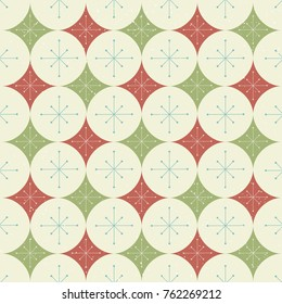 Seamless Christmas Stars and Diamonds Pattern