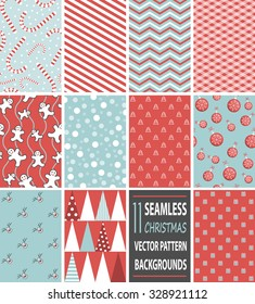 seamless christmas vector pattern background