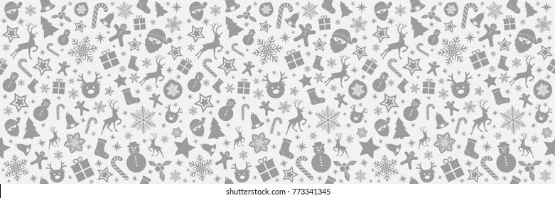 seamless christmas wallpaper cute icons 260nw 773341345