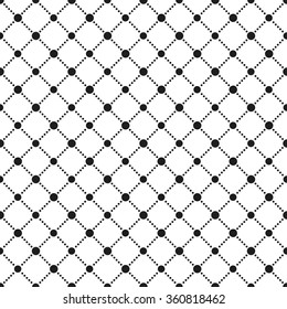 4efd6bb4a Seamless circle pattern. Abstract Black and white background. Grid texture.  Squares dotted background