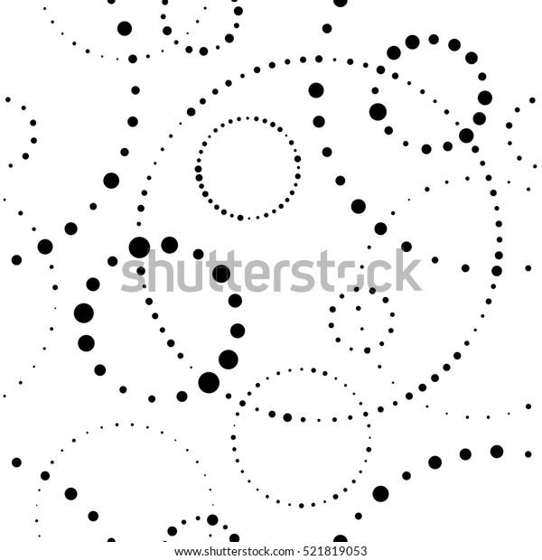 シームレスな円のパターン。抽象的なベクター画像の最小背景。現代の織物装飾。簡易円形壁紙