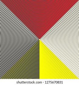 Seamless Circlular Pattern. Conceptual Geometric Background. Minimal Graphic Design