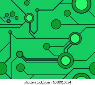Seamless circuitry pattern in green