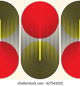 Seamless Circular Pattern. Abstract Modern Geometric Background. Vector Regular Minimal Texture