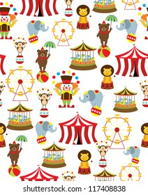 seamless circus background. vector illustration