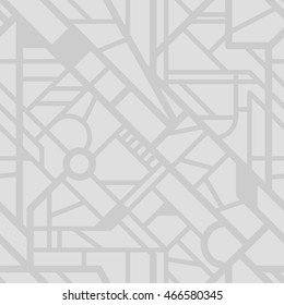Seamless city map pattern. Vector street background. Urban texture for your design.